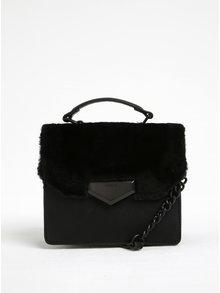 Černá crossbody kabelka s umělým kožíškem ALDO Moraine