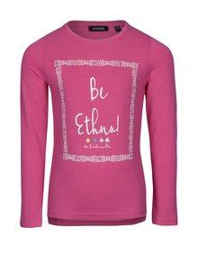 Ružové dievčenské tričko s potlačou a dlhým rukávom Blue Seven