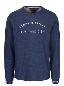 Modrá pánska žíhaná mikina Tommy Hilfiger Russel
