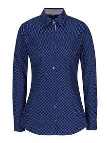 Tmavomodrá dámska bodkovaná košeľa VAVI
