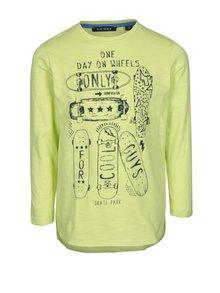 Svetlozelené chlapčenské tričko s potlačou Blue Seven