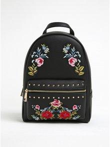 Čierny batoh s nášivkou ruží ALDO Dare