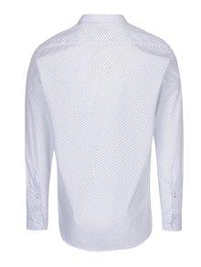 Biela pánska vzorovaná formálna košeľa VAVI