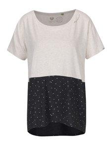 Šedo-krémové dámské puntíkované oversize tričko Ragwear Bonny Organic