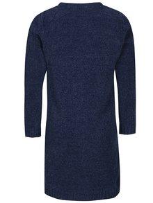 Tmavě modré holčičí svetrové šaty se vzorem Blue Seven
