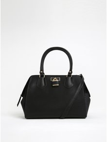 Černá kabelka s detaily ve zlaté barvě ALDO Tagua