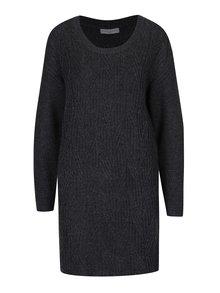 Tmavě šedé svetrové šaty Jacqueline de Yong Rosanna