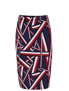 Tmavomodrá obojstranná puzdrová sukňa Tommy Hilfiger