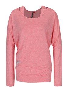 Bluză roz melanj cu mâneci liliac Ragwear Sheila