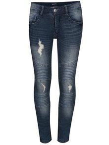 Tmavě modré klučičí džíny s potrhaným efektem Blue Seven
