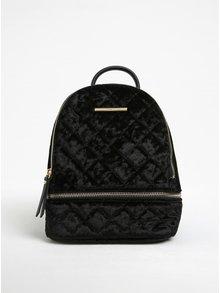 Černý dámský malý prošívaný sametový batoh ALDO Edroiana