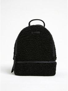 Černý dámský malý batoh s umělým kožíškem ALDO Anacoedo