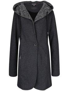 Tmavě šedý dámský lehký kabát s kapucí Ragwear Brooke