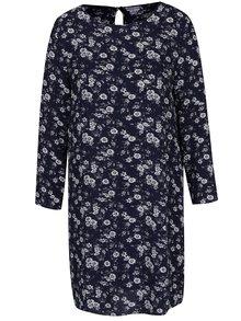 Tmavě modré květované šaty s průstřihy na ramenou Jacqueline de Yong Daya