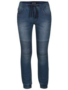 Modré klučičí džíny s vyšisovaným efektem Blue Seven