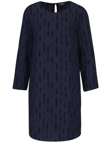 Tmavomodré vzorované šaty s prestrihmi na ramenách Jacqueline de Yong Daya