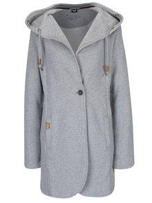 Světle šedý dámský lehký kabát s kapucí Ragwear Brooke