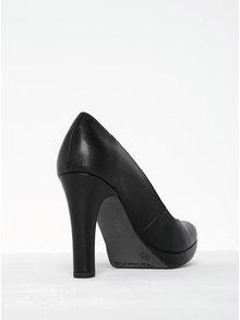 Pantofi negri cu toc și platformă Tamaris