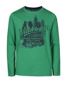 Zelené chlapčenské tričko s potlačou Blue Seven