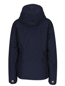 Tmavomodrá dámska bodkovaná bunda s kapucňou Ragwear Lynx Dots