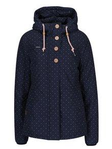 Tmavě modrá dámská puntíkovaná bunda s kapucí Ragwear Lynx Dots