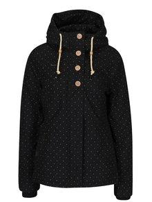 Čierna dámska bodkovaná bunda s kapucňou Ragwear Lynx Dots