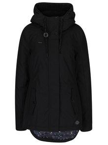 Černá dámská bunda s kapucí s umělým kožíškem Ragwear Monade