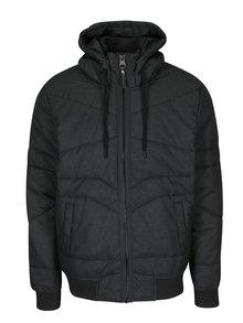 Tmavě šedá pánská voděodolná prošívaná bunda s kapucí Ragwear Dockie