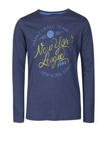 Modré chlapčenské tričko s potlačou Blue Seven