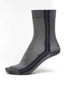 Šedé dámské třpytivé ponožky s pruhy mp Denmark Viola