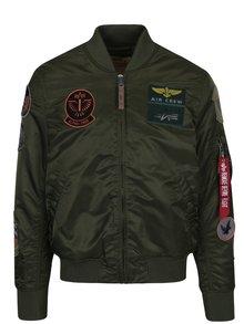Jacheta bomber kaki cu aplicații pentru bărbați  ALPHA INDUSTRIES