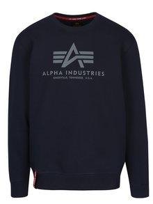 Bluză sport albastru închis cu logo ALPHA INDUSTRIES