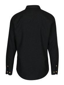 Čierna melírovaná košeľa Kronstadt Dean