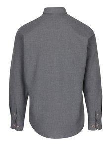 Sivá melírovaná košeľa Kronstadt Dean
