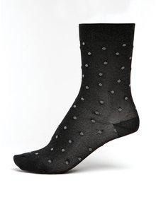Černé dámské třpytivé puntíkované ponožky mp Denmark Swan