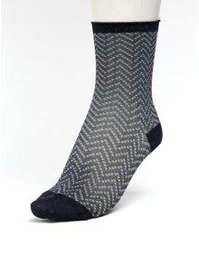 Tmavě modré dámské třpytivé vzorované ponožky mp Denmark Yao