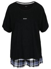 Čierna darčeková súprava pyžama a masky na spanie DKNY