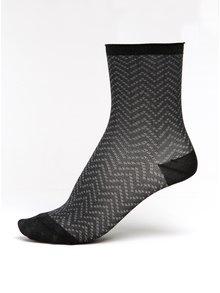 Tmavě šedé dámské třpytivé vzorované ponožky mp Denmark Yao