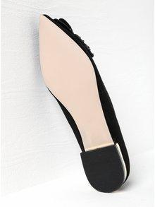 Černé baleríny v semišové úpravě s aplikací Miss KG Nabeela