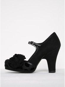 Pantofi negri cu bretea, buline și toc gros - Ruby Shoo Hanna