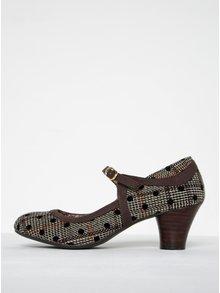 Pantofi cu toc mediu și inserții de catifea - Ruby Shoo