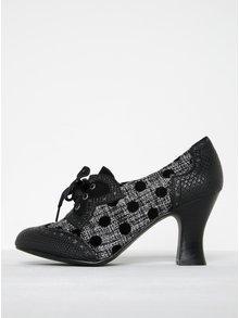 Pantofi negri cu buline și  toc stabil - Ruby Shoo Daisy