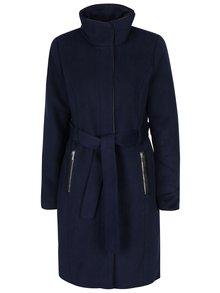 Tmavě modrý kabát s příměsí vlny VERO MODA Prato