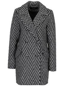 Čierno-sivý vzorovaný kabát VERO MODA Paris
