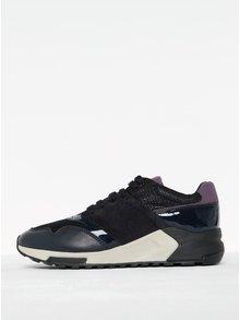 Tmavě fialové dámské tenisky se semišovými detaily Geox Phyteam A