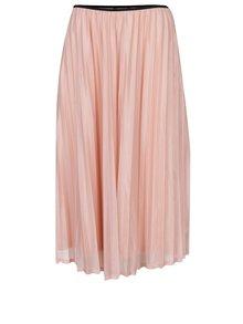 Meruňková plisovaná sukně VERO MODA Glitzy