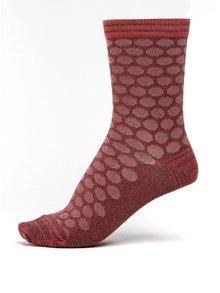 Vínové dámské třpytivé puntíkované bambusové ponožky mp Denmark Ursa