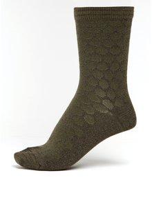 Khaki dámské třpytivé puntíkované bambusové ponožky mp Denmark Ursa