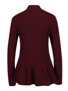 Bluză peplum bordo tricotată fin -  VERO MODA Sky