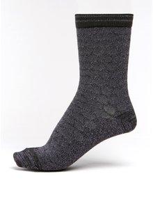 Fialové dámské třpytivé puntíkované bambusové ponožky mp Denmark Ursa